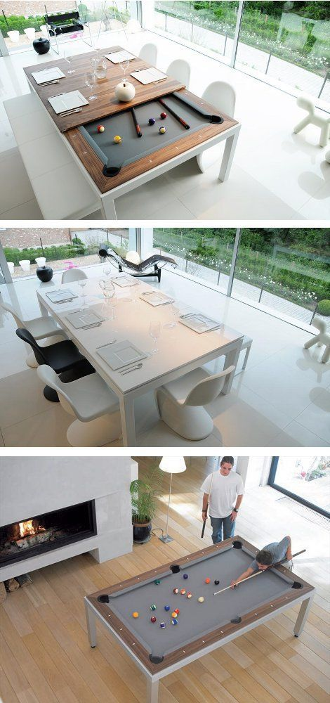 Fusion Pool Table And Dining Table Awesome Ideas