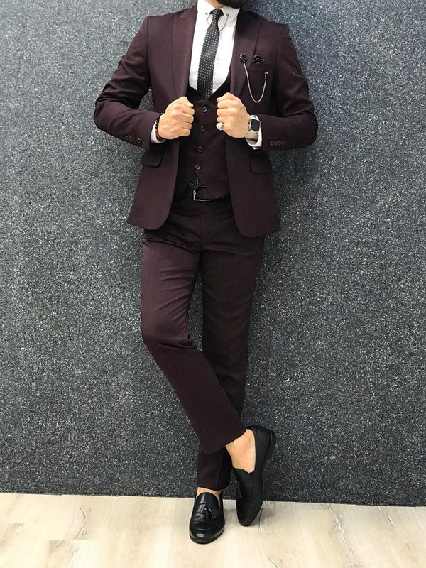 3b3aeed8b1f59 Buy Claret Red Slim Fit Suit by GentWith.com with in 2019 | GentWith ...
