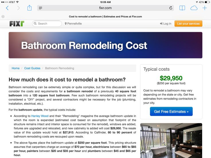 Best Cost Of Bathroom Remodel Images On   Bath