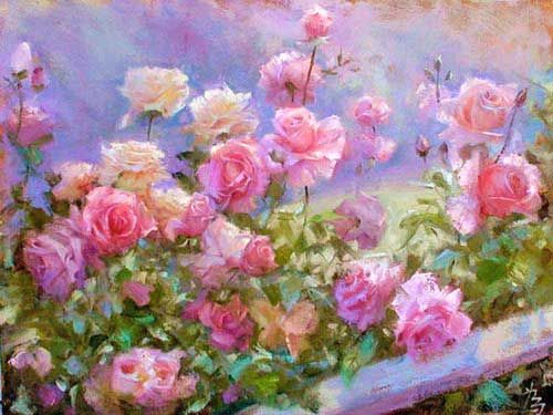 Flower Garden Paintings 1737 best ♥☆♥ roses in dreams ♥☆♥ images on pinterest