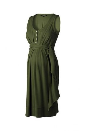 Isabella Oliver Una Maternity and Nursing Summer Dress Khaki | Maternity Dresses | Nursing Dresses