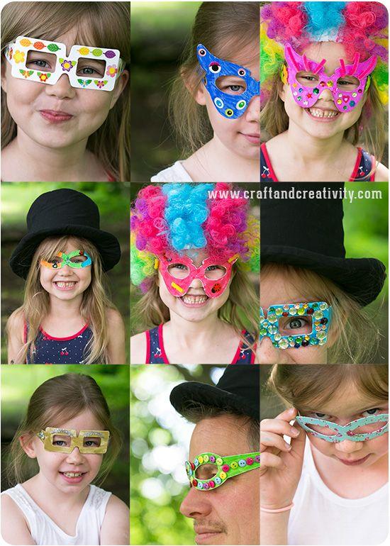 Partyglasögon – Party glasses - Craft & Creativity