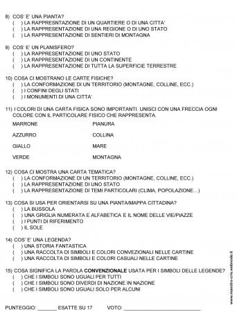 CARTINE VERIFICA CL TERZA 2