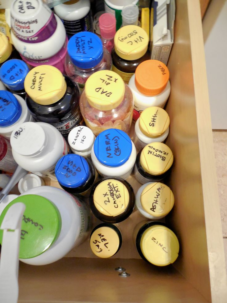 19 Best Images About Organize Vitamins And Medicines On