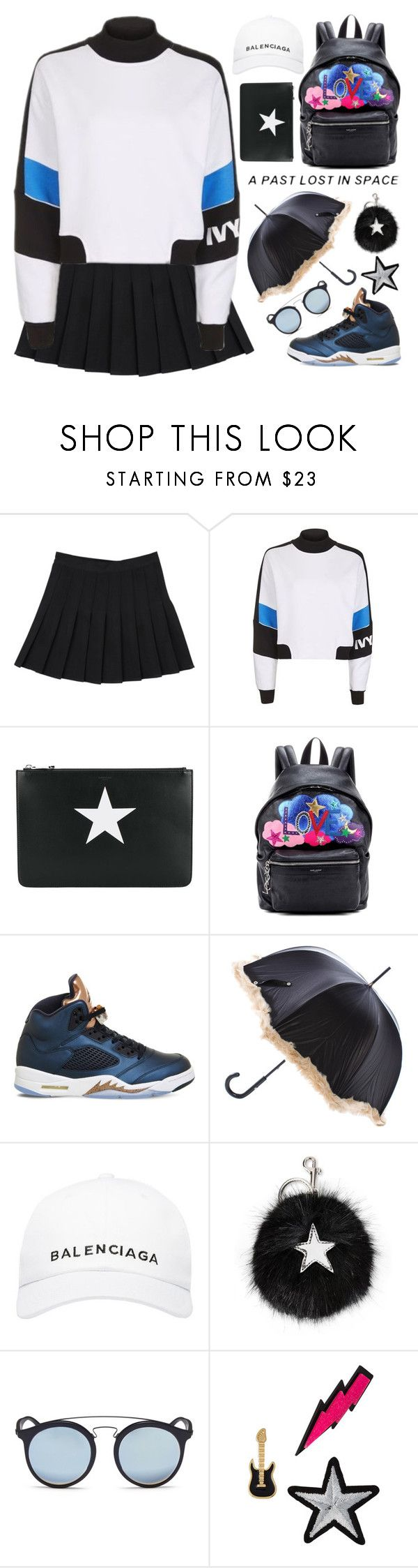 """Celebrate Our 10th Polyversary!"" by sellyankumala ❤ liked on Polyvore featuring Topshop, Givenchy, Yves Saint Laurent, NIKE, Jean-Paul Gaultier, Balenciaga, STELLA McCARTNEY, Ray-Ban, Lydell NYC and polyversary"