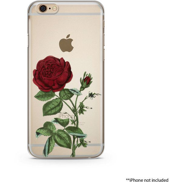 Red Flower iPhone Case, iPhone 6 plus case Transparent iPhone Case,... ❤ liked on Polyvore featuring accessories, tech accessories, iphone sleeve case, iphone cases, thin iphone case, iphone rubber cases and apple iphone case