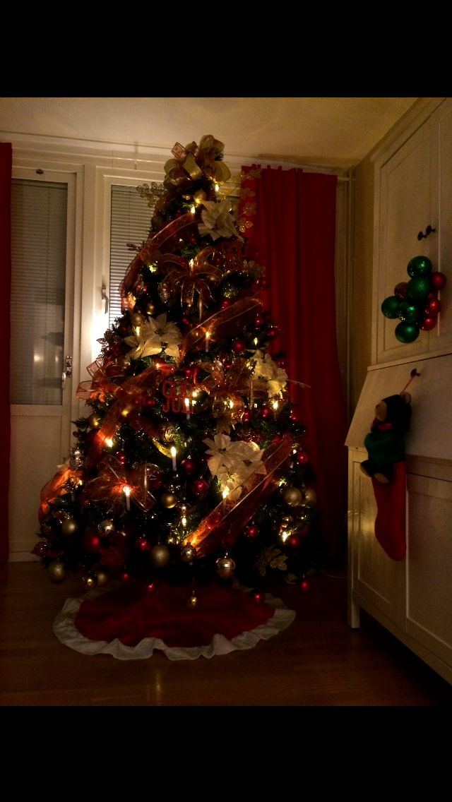 Our Christmas Tree at Night! Love it!!!