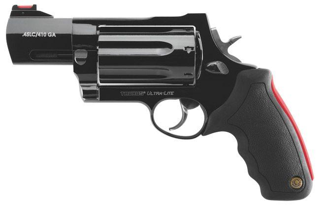 "Hand cannon: the ""Raging Judge"" ultralight. shoots 7, 410 shotgun shells or .45 colt."