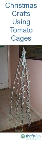 This is a guide about Christmas crafts using tomato cages. The tomato cage is not just for the garden. You can create some fun Christmas crafts using them.