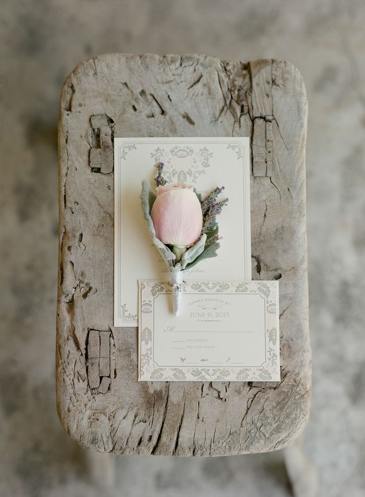 Perfect & Simple Rose Bud Boutonniere | See the wedding on SMP: http://www.StyleMePretty.com/2014/03/05/romantic-wedding-at-san-ysidro-ranch/ Photography: Elizabeth Messina