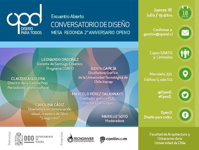 Afiche difusión Open D - Julio 2013