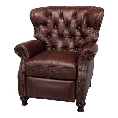 opulence havana brown cambridge recliner wayfair - Brown Leather Recliner