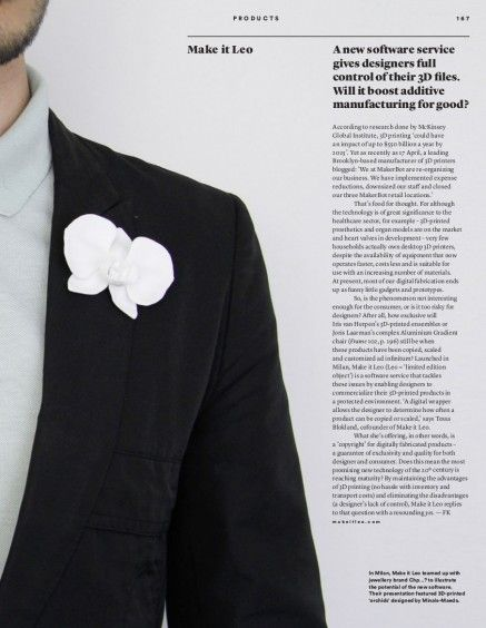 Article FRAME Magazine.
