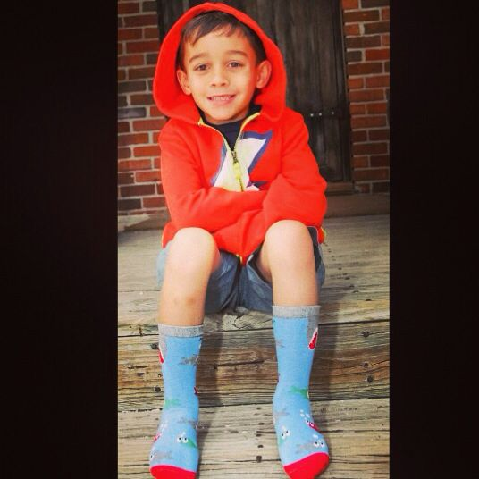 Sebastian the 6-year-old sock designer. A young entrepreneur.