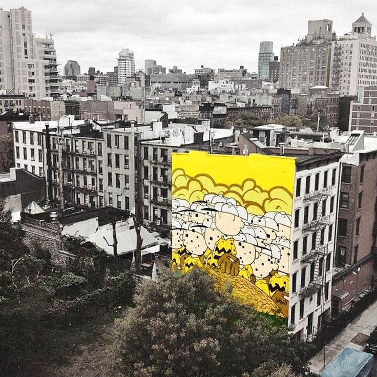 Personagens iconicas da cultura Pop  embelezam e pintam Nova Iorque 9