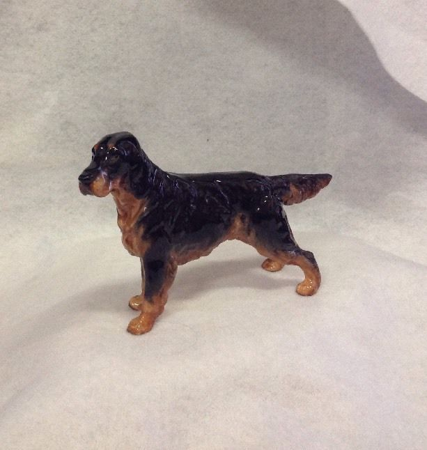Antique Royal Doulton Gordon Setter Hunting Dog RARE  HN 1081