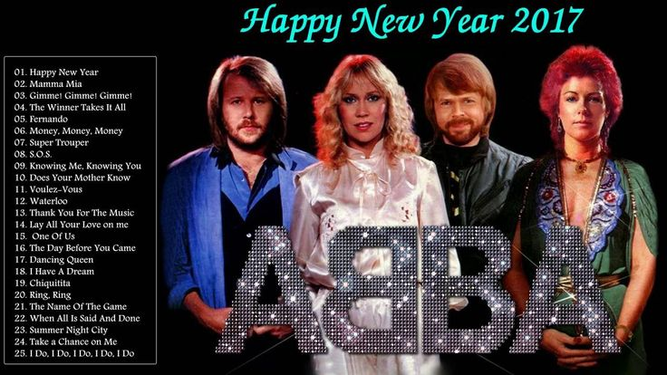 """"""" Happy New Year 2017 """" - ABBA Greatest Hits Full Album Cover 2017"""