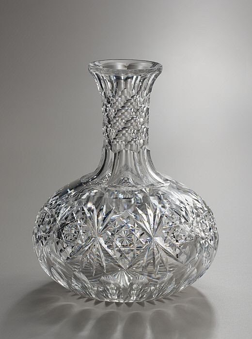 American Brilliant Period Cut Glass Carafe, Hawkes.