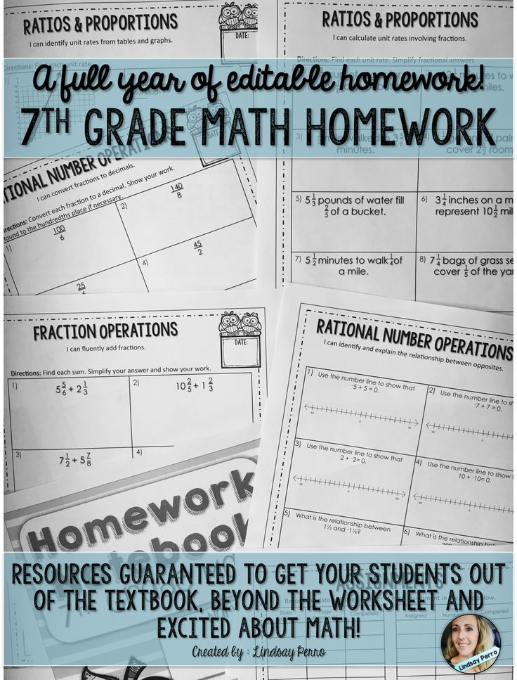 7th grade math help homework help