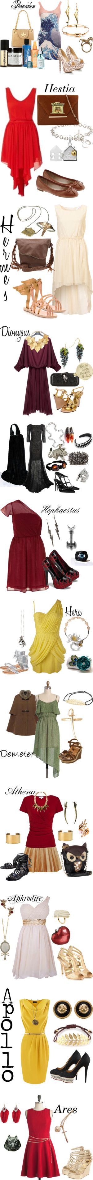 """Greek Gods and Goddess"" by strawberryapricotpie ❤ liked on Polyvore"