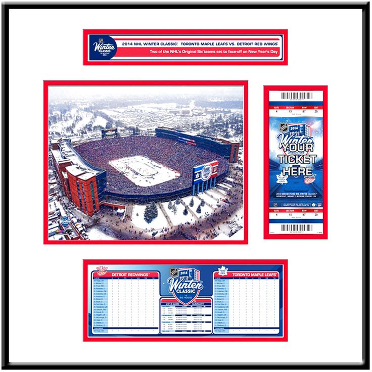 Detroit Red Wings 2014 NHL Winter Classic Ticket Frame Jr. - $95.99