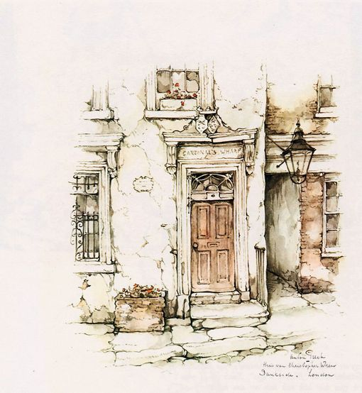 Anton Pieck, part of a painting he did.