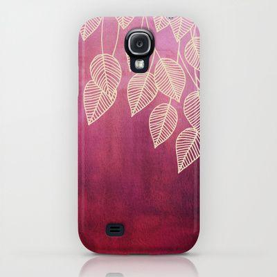 Magenta Garden - watercolor & ink leaves iPhone & iPod Case $35.00