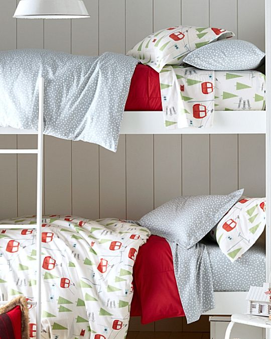 Slope Style Condo: Ski Slope Flannel Bedding