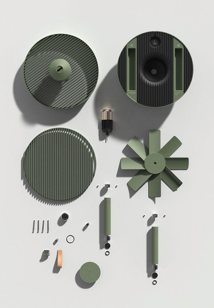 Conbox / 2016 / Stackable Electric Fan Design / http://www.jiyounkim.com