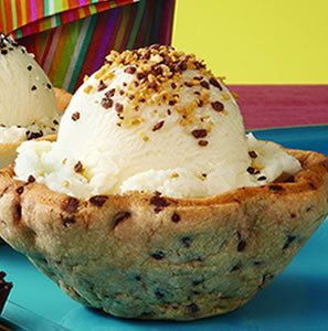 Chocolate Chip Cookie Bowls~all ready to hold my ice cream and numerous toppings!