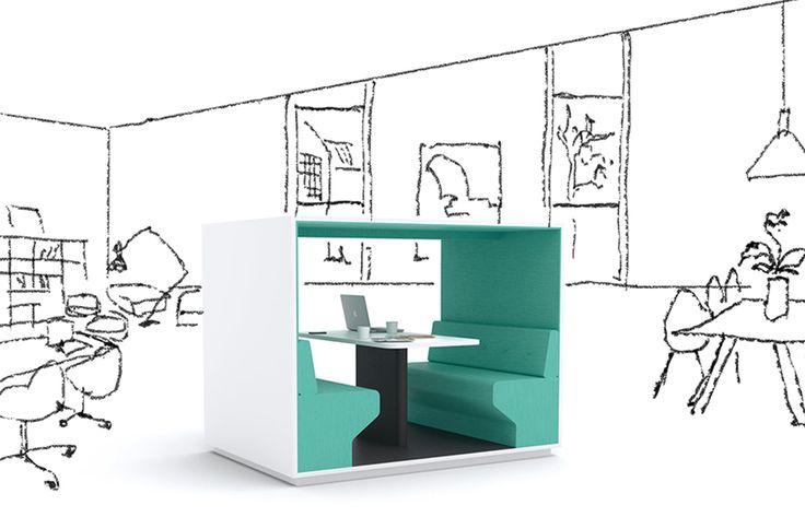 Mute  Horreds Mute, een stiltewerkplek van PLAN@OFFICE ontworpen door Horreds.