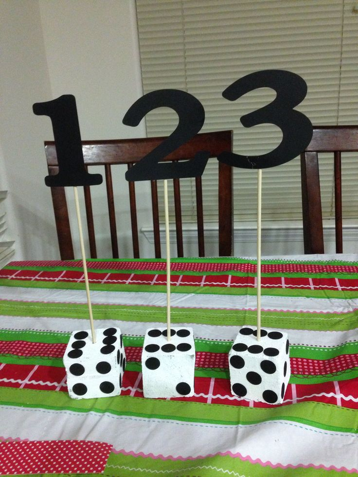 Bunco centerpieces