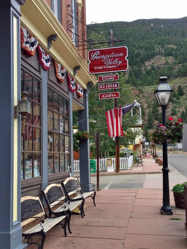 I guess we ran right by this but I didn't know at the time it was Georgetown, Colorado