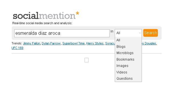 Social Mention, herramienta para saber que se dice de ti en la red. Esmeralda Diaz-Aroca