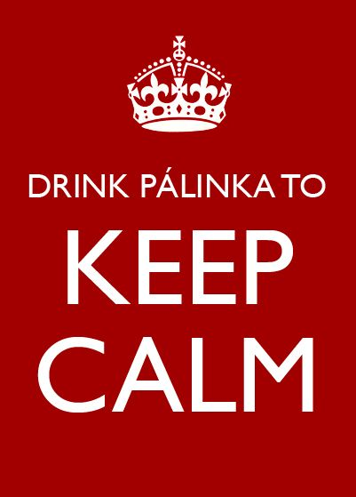 DRINK PÁLINKA TO KEEP CALM. #Hungary #pálinka