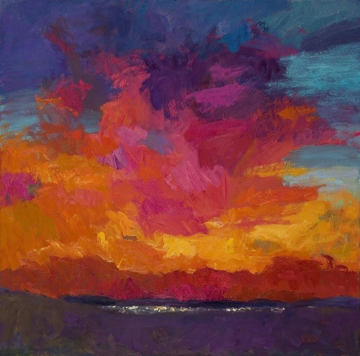 Larisa Aukon , Night Life by Larisa Aukon Oil ~ 30 x 30