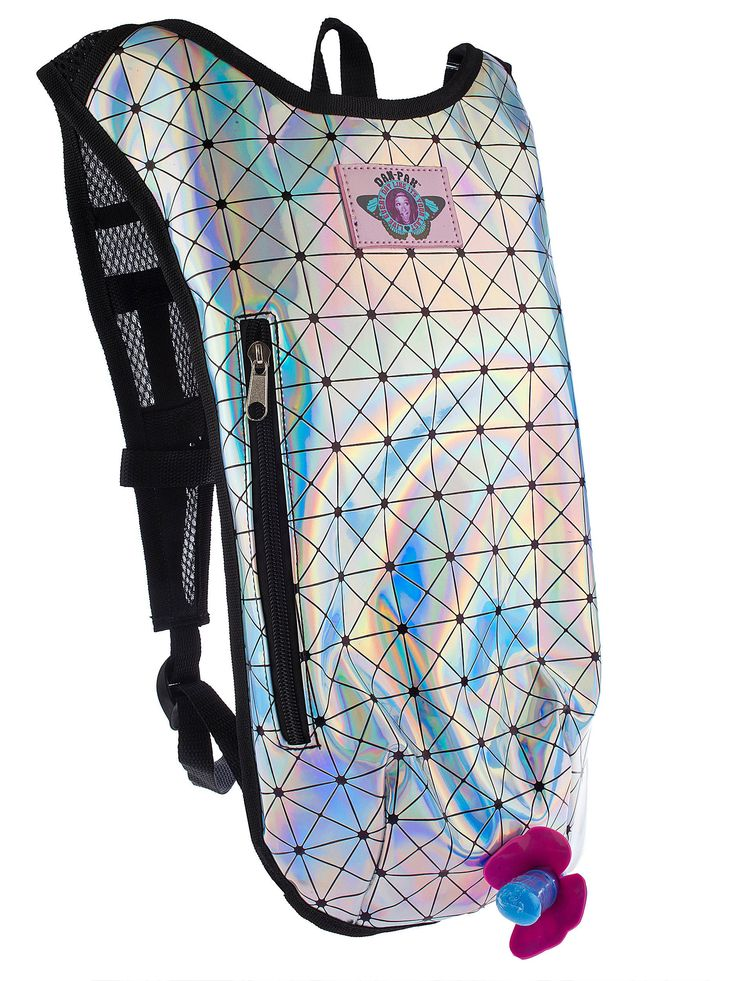 Holographic Disco Hydration Pack