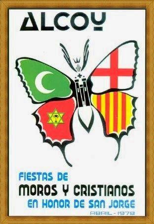 Cartel de fiestas de Alcoy del año 1978 Autor Francisco Mora Francesch
