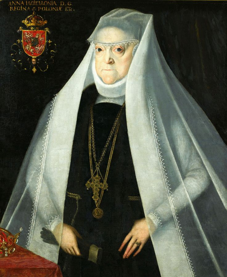 Portrait of Queen Anna Jagiellon as a widow by Martin Kober, after 1586 (PD-art/old), Muzeum Pałacu Króla Jana III w Wilanowie