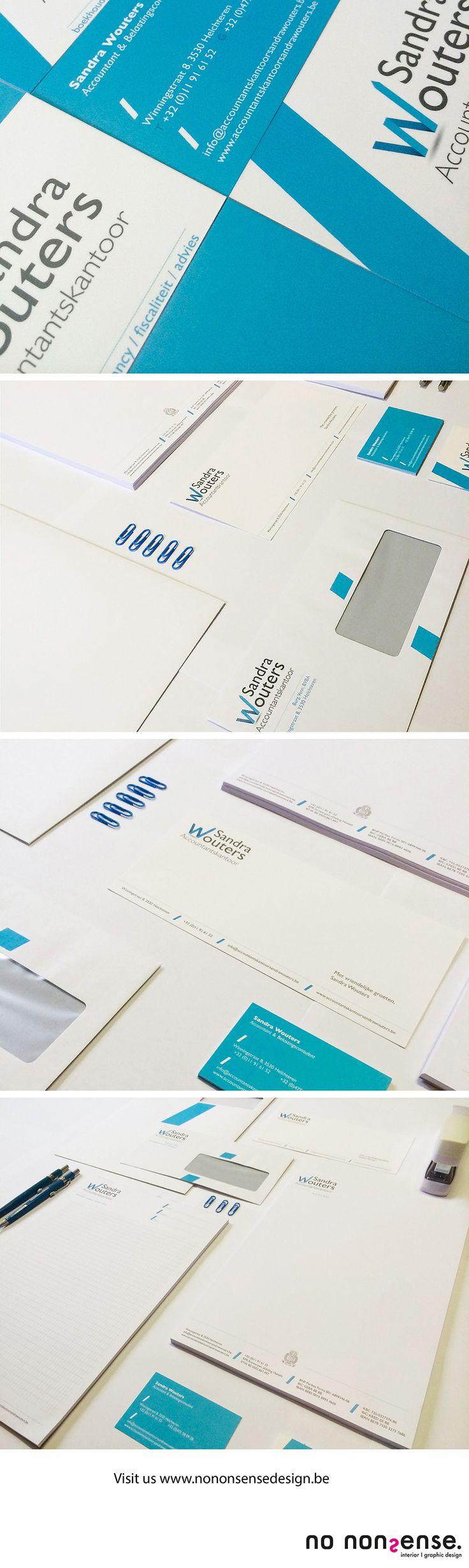 Logo en huisstijlontwerp voor accountantskantoor Sandra Wouters. #corporateidentity #corporatedesign #branddesign #logo #huisstijl #grafischevormgeving