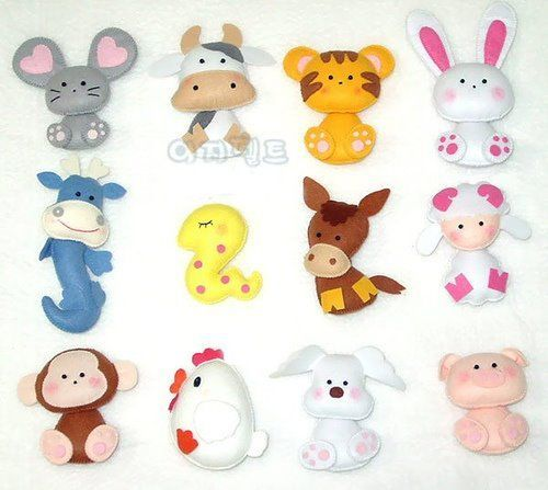 DIY Cute Felt Animals - FREE Patterns / Tutorials