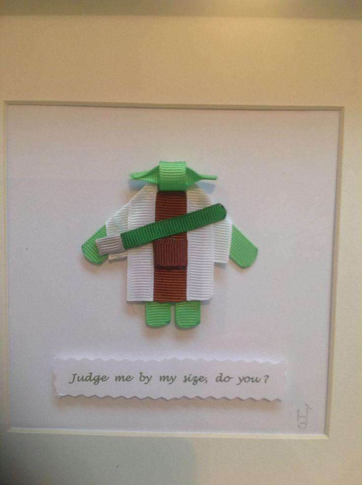 Green I am!   Star Wars Yoda Ribbon Sculpture Art.