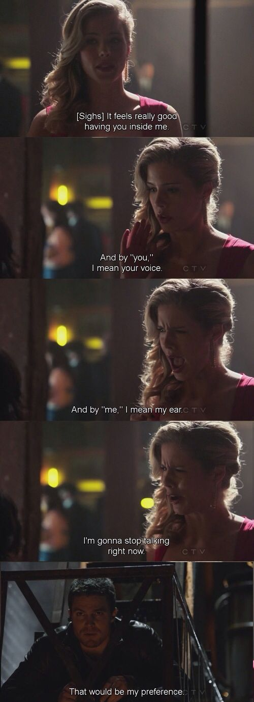 Perhaps the best lines Felicity has ever said