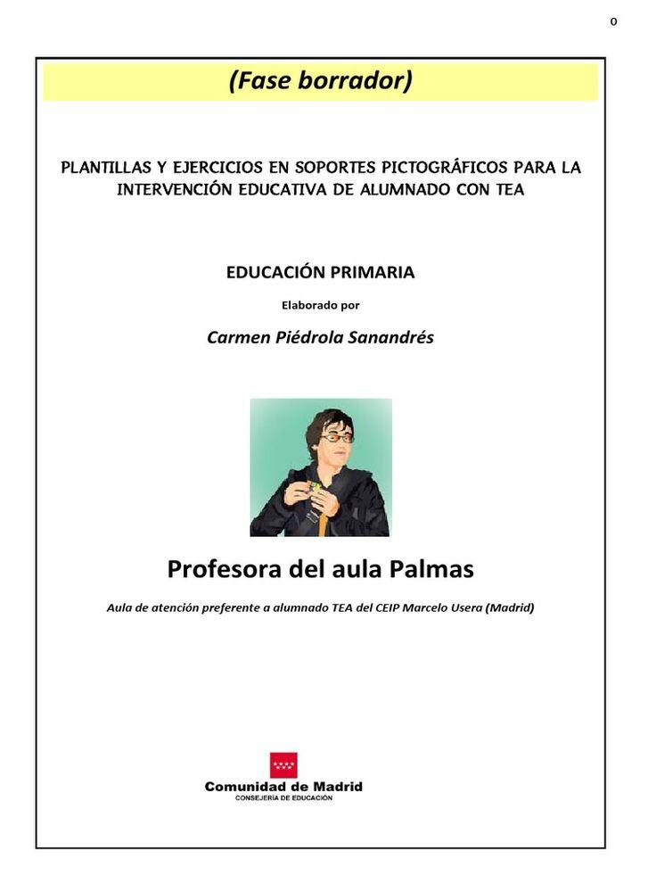 Propuesta Proyecto Curriculum Escolar en Formato Pictografico elaborado por CArmen Piédrola para el CEIP Marcelo Usera de la Comunidad de Madrid