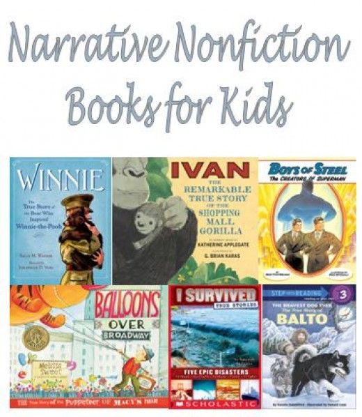 38 best images about Narrative Nonfiction Books for Elementary ...