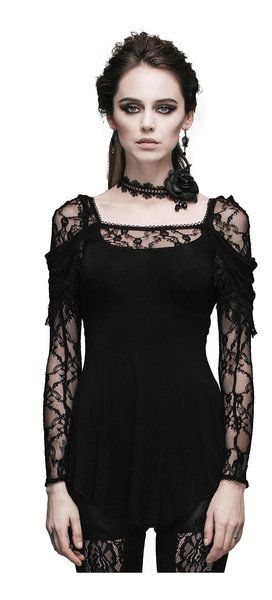 Ava Women's Gothic Long Sleeve Shirt