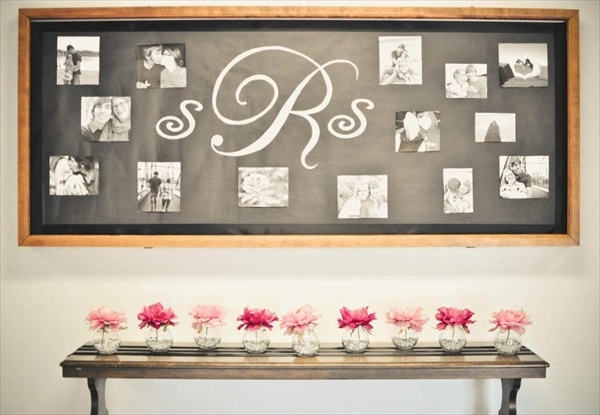 Lobby bulletin board display -- great idea to decorate a church bulletin board for a wedding! Timeless Events by Christi