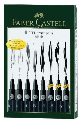 Tuschestift PITT ARTIST PEN schwarz im 8er Kunststoffetui Faber-Castell http://www.amazon.de/dp/B005HF562K/ref=cm_sw_r_pi_dp_8WBqwb030EWP7