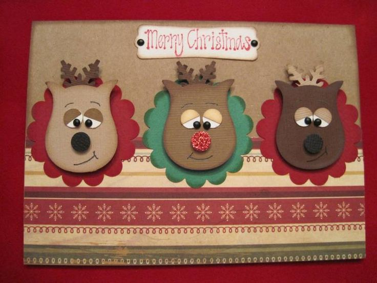 The deer are created by using an owl punch by Stampin' Up.