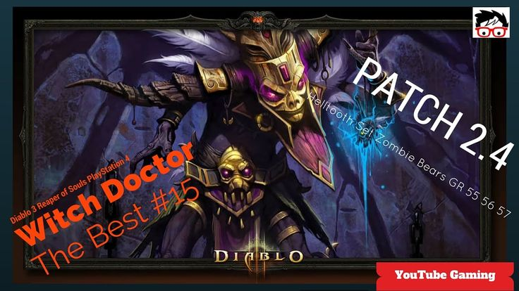 vDiablo 3 patch 2.4 on PS4 Witch Doctor Helltooth Full Set Zombie Bears G...#Diablo3